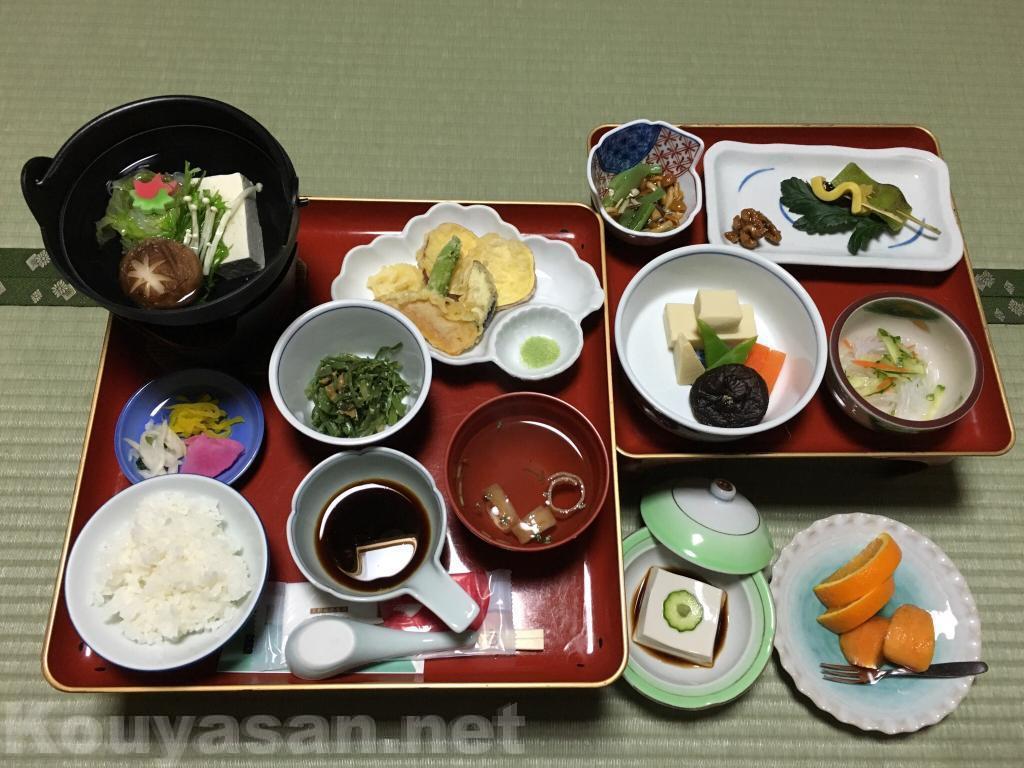 高野山持明院の精進料理